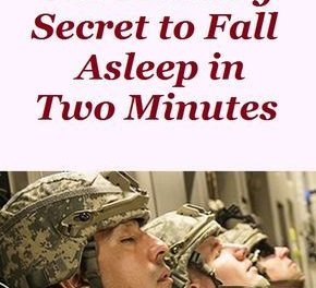 How to fall asleep military way. Men's health and fitness trainer.